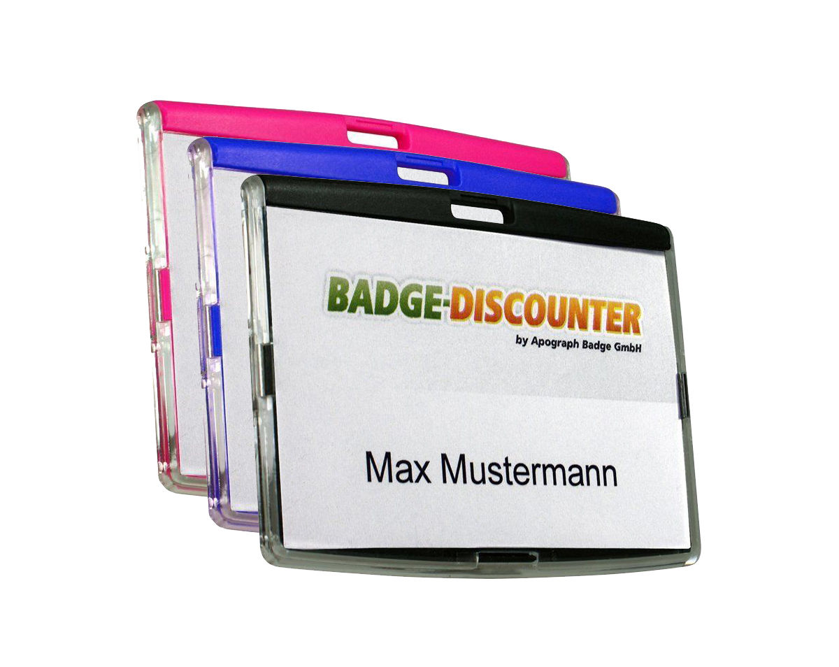 Badge Holder, horizontal format, rigid, NCSH, ready for use with ...