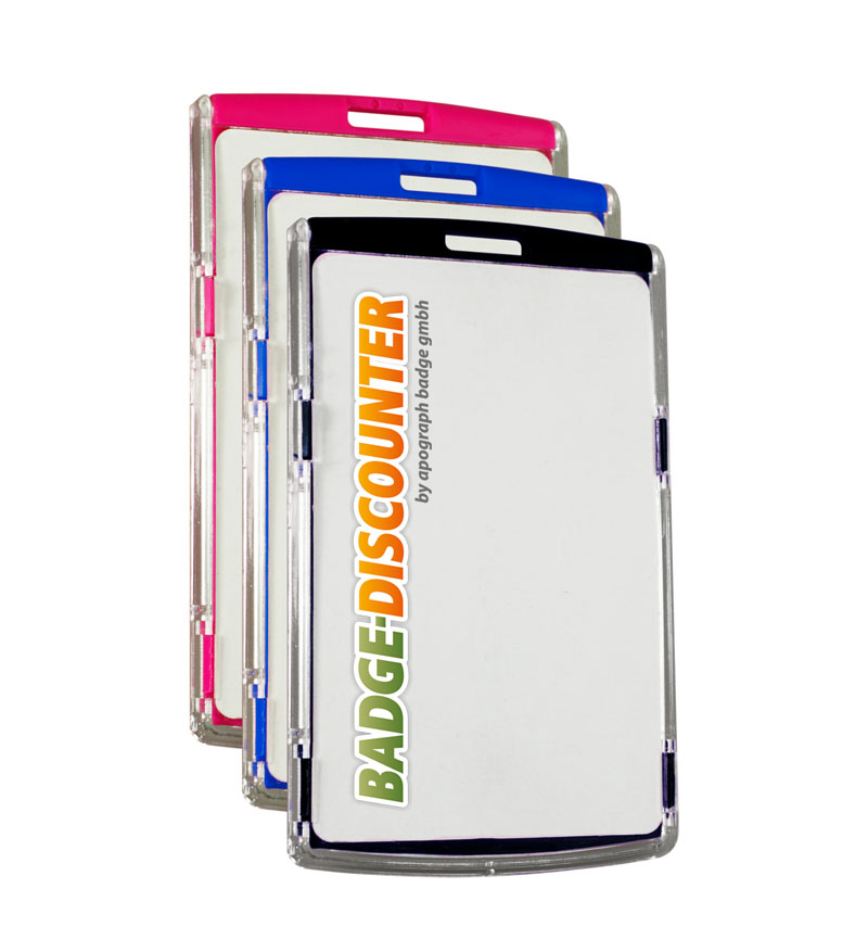 PorteBadge NCSV Format Vertical Rigide Badgediscounterde - Porte badge rigide